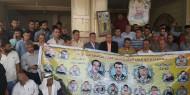 حركة فتح في الشمال تنظم وقفة تضامنية أمام منزل الأسير أبو عبيدة