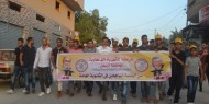 بالصور.. شبيبة فتح بساحة غزة تنظم اضخم حملة زياراة لطلبة الثانوية العامة