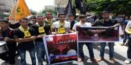 بالصور|| الشبيبة الفتحاوية تشارك بمسيرات الغضب في غزة لنصرة الأقصى