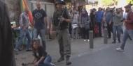 """فيديو.. جنود الإحتلال يعتدون بالضرب على مراسلة """"روسيا العربية"""" على الهواء مباشرة"""