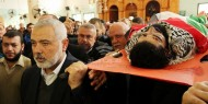 بالفيديو والصور.. خلال تشيع الشهيد أبو ثريا: هنية: القدس مقبرة المؤامرات