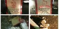 """بالصور: تحطيم تمثال """"حكيم الثورة"""" في ذكرى رحيله.. والفصائل تسيطر على إشتباكات عناصر فتح والشعبية"""