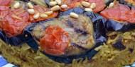 مقلوبة لحم بالخضار