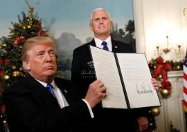 """مباشر.. ترامب يعلن الصفقة: القدس عاصمة """"إسرائيل"""" الموحدة وسنفتح عاصمة خاصة لفلسطين"""