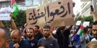 خاص بالفيديو والصور: رام الله تنتفض نصرة لغزة.. وأمن عباس يقطع طريق المسيرة السلمية