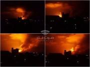 بالفيديو.. هجوم إسرائيلي مكثف على سوريا.. والدفاعات الجوية تتصدى