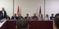 فصائل الإئتلاف الوطني الديمقراطي تلتقي برئيس الوفد المصري بغزة اللواء احمد عبدالخالق