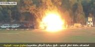 شاهد.. لحظة تفجير حافلة جنود إسرائيليين على حدود غزة