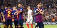 شاهد..  برشلونة يسحق إشبيلية ويعبر لنصف نهائي كأس الملك