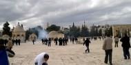 شاهد.. قوات الاحتلال تعتدي على المصلين في باب الرحمة