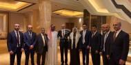 بالصور.. الشيخ طحنون بن زايد مستشار الأمن القومي للإمارات يبارك للمشهراوي زفاف كريمته