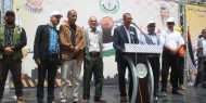 """بالصور.. مجلس العمال بحركة فتح """"ساحة غزة"""" ينظم مسيرة حاشدة بمناسبة يوم العمال العالمي"""