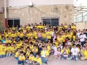 بالصور… اكثر من 400 طفل يشاركون بمخيم أبو علي شاهين الصيفي في رام الله