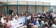 """بالفيديو والصور.. فتح بـ""""ساحة غزة"""" تنظم وقفة احتجاجية دعماً للأونروا"""
