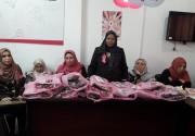 """بالصور.. """"إصلاحي فتح"""" ينفذ حملة توعوية لمريضات السرطان في غزة"""