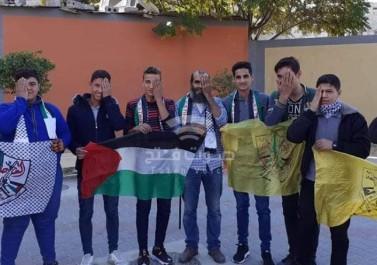 بالصور.. الشبيبة الفتحاوية بمدارس غزة تتضامن مع الصحفي معاذ عمارنة