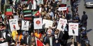 مسيرة حاشدة في الأردن تطالب بإسقاط اتفاقية الغاز مع الاحتلال