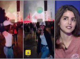 شاهد.. ناشطة سعودية كادت تخلع ملابسها خلال رقصها في حفل بالرياض