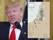 شاهد.. ترامب يكشف عن خريطة فلسطين الجديدة