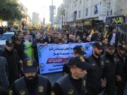 """بالصور.. حركة فتح برفح تنظم مسيرة حاشدة ضد """" صفقة القرن"""""""