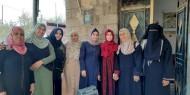 مجلس المرأة في محافظة رفح يزور الطالبة الكفيفة شيماء أبو الحصين