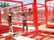 صور| استعدادات لتسليم مركز جديد للحجر الصحي بغزة