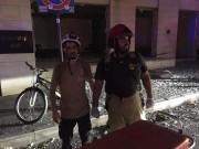 شاهد.. الدفاع المدني الفلسطيني يشارك في إخماد حرائق لبنان