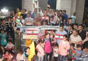 بالصور.. تيار الإصلاح ينظم مسيرة بالشموع في رفح تضامنا مع لبنان