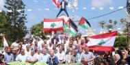 بالصور:إصلاحي فتح يشارك القوى الوطنية والإسلامية وقفة التضامن مع لبنان