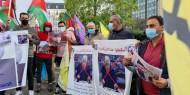 شاهد.. مظاهرة أمام مقر الاتحاد الأوروبي في بروكسل تنديدا باختطاف كوادر فتح في الضفة