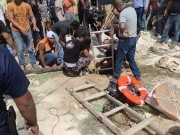 بالصور: وفاة 5 مواطنين سقطوا في حفرة امتصاصية بالخليل