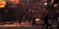 شاهد.. إصابات خلال مواجهات بين أجهزة أمن السلطة وشبان في مخيم بلاطة بنابلس
