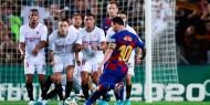 إشبيلية يهزم برشلونة ويضع قدماً بنهائي كأس الملك