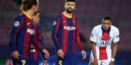 شاهد.. شتائم متبادلة بين لاعبي برشلونة خلال مباراة باريس
