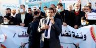 """لجنة اللاجئين برفح تشارك في وقفة تضامنية بعنوان """" لا للاقصاء .. كلنا معك """""""