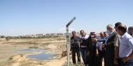 غنيم يطلع على الأضرار التي لحقت بقطاع المياه جراء العدوان الإسرائيلي على غزة