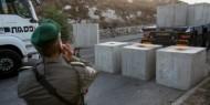 """جنين: الاحتلال ينصب حواجز عسكرية ويواصل اغلاق حاجز """"دوتان"""""""