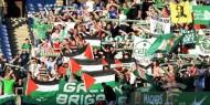 جماهير اسكتلندية ترفع علم فلسطين وتطالب بعدم اللعب ضد إسرائيل