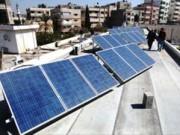 غزة: افتتاح مشروع خلايا الطاقة الشمسية المتجددة في محطة معالجة مياه الصرف الصحي برفح